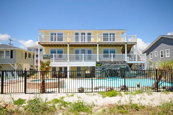 Turtles nest oceanfront home in cherry gro vrbo for 3 bedroom condo myrtle beach sc