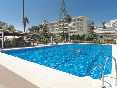 Photo for Torremolinos: Flat in lovely complex in the Carihuela just 50m from the beach