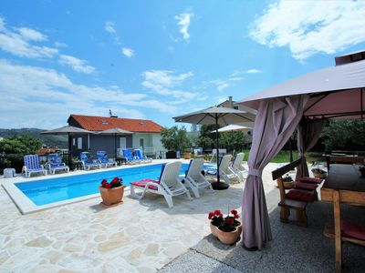 Photo for Charming Villa Mendula with pool, 100m from beach