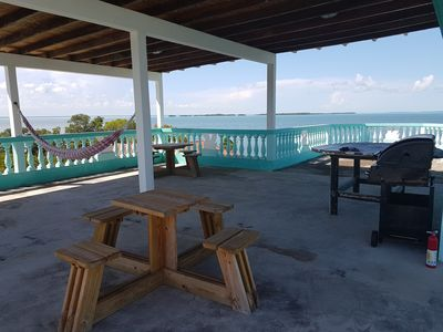 Relax on the spacious Roof Terrace overlooking the breathtaking Caribbean Sea!