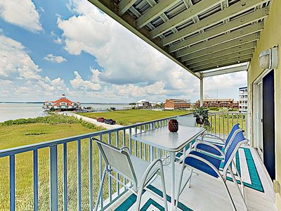 Photo for New Listing! Sparkling Bayfront Condo w/ Pool - Walk to Beach, Dining & Shops
