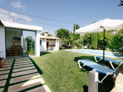 Photo for Private Villa, Walking Distance to Puerto Pollensa Beach with Wifi, A/C, Sky TV