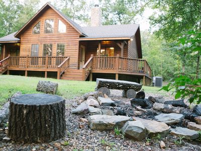 Photo for Sleeps 4-7, Family Friendly, Easy Access, Wooded setting.
