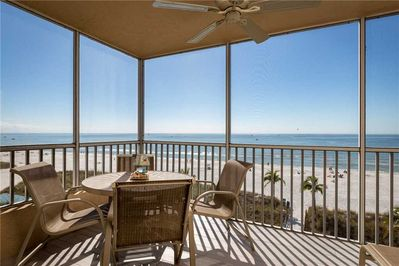 Incredible View - Take in an incredible ocean view while out here on Estero Island Beach Villas 401 balcony. Settle down out here with a drink and watch the waves crash against the shore.