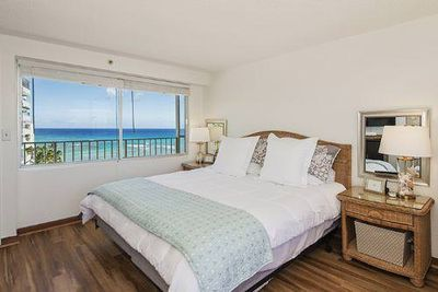 King bed with ocean view
