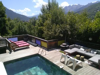 Photo for Serre Chevalier 1200 luxury chalet, relaxation area, sauna, spa, home cinema