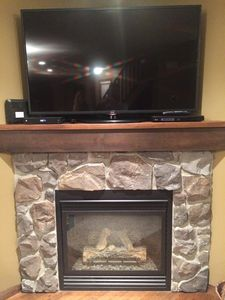 Family Room Smart TV with Netflix.