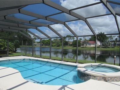 Photo for Lovely 3-bdrm home on lake in the Briarwood community in Naples
