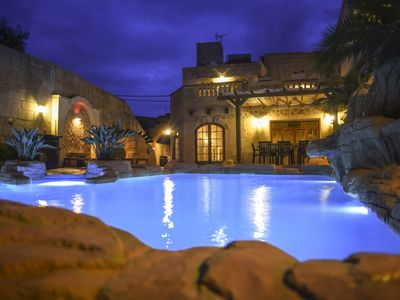 Photo for 300 year old farmhouse fully converted to Very High Standards with Lagoon Pool