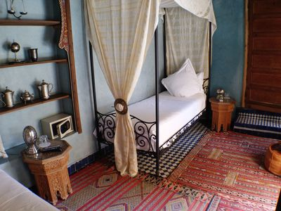 Photo for 2 Single Beds, Riad Layalina Fez: Pool, 360° View & Free Secure Parking at Foot