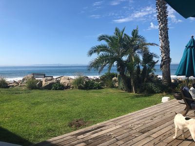 Photo for Beachfront Cottage with Guest House on Santa Barbara's Padaro Lane