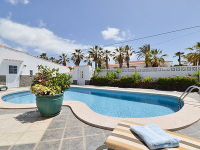 Photo for Palm-Mar Apartment, Sleeps 2 with Pool and WiFi