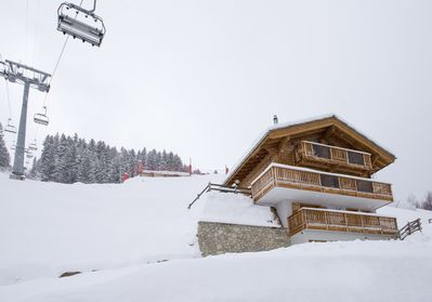 View of the Chalet from Les Masses Piste