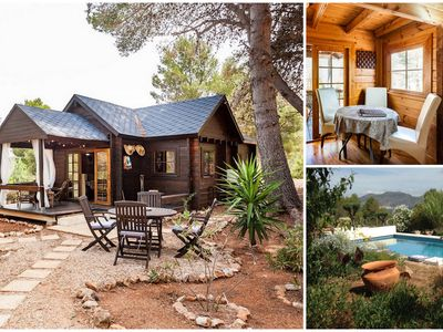 Photo for Wooden chalet for 2 (+2) with private entrance, pool and stunning views