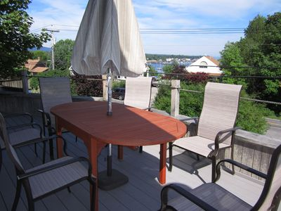Front deck table.