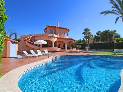Photo for 4 bedroom Villa, sleeps 9 with Pool, Air Con, WiFi and Walk to Beach & Shops