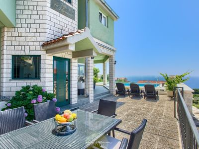 Photo for Beautiful villa with a fantastic view near the sea