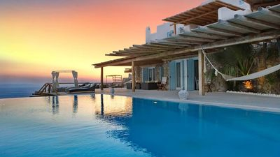Photo for 7 bedroom villa with private pool + sea view