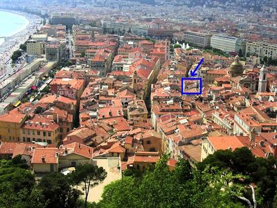 Photo for Apartment/ flat 2 rooms - NICE old city XII° century barocco Palace, 150M seaside
