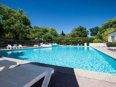 Photo for CHALET 4- Terrace, garden furniture, beautiful view, swimming pool, summer entertainment