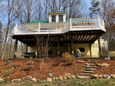 Photo for NEW INTERNET! Quiet Country Get Away on 4 acres on C&O Canal & Potomac River
