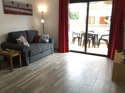 Photo for Moon Holiday Home: sunny apartment, walking distance from the Las Vistas beach