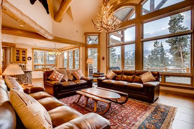 Comfy living - with large windows overlooking the majestic Breckenridge mountains