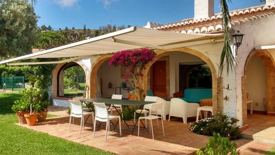 Photo for Nice house with beautiful garden and fenced pool- Urbanization El Tosalet