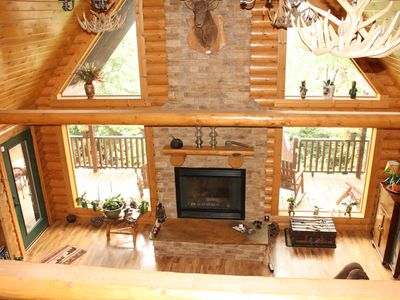 Photo for Bear Lodge Cabin on 117 acres of God's Country, Walking Trails, Bluff views