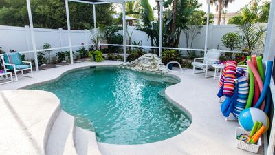 Photo for Relaxing Beach House - Heated Pool - Walk to the Beach!