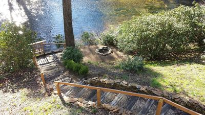 Photo for Riverfront direct access to trout river with tranquil views