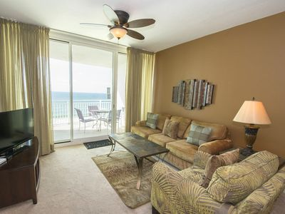 Photo for Spacious Beachfront Condo with Private Balcony. Beachfront Pools, Onsite Fitness Center, Sitting on the Sand!