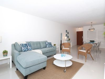 Photo for Beach front fully equiped apartment, climatized pool, parking