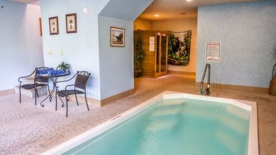 Photo for Pigeon Forge  Romantic SWIMMING POOL inside your Honeymoon Cabin INFRARED SAUNA