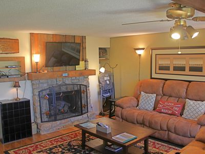 Photo for Walk to the slopes from this updated mountainside condo w/loft & covered balcony