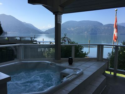Photo for Waterfront house on Harrison Lake - With your own private hot tub, beach & dock!