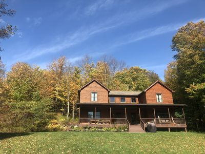 Photo for Exceptional Modern Log Home. Close to Ommegang, Hall of Fame, Downtown.