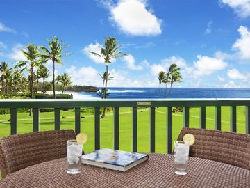 Poipu Sands  #525 - Ocean Front Views - Newly UPGRADED interior