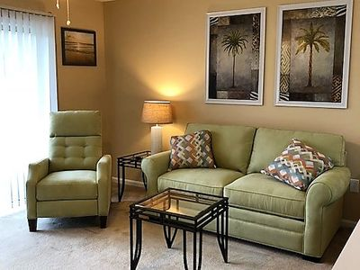 Photo for Stunning golf course view; beautiful condo!