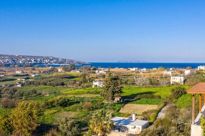 The view towards the sea and Sitia town