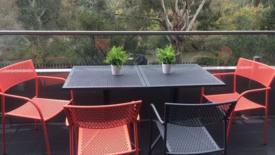 View from the Balcony into the Yarra River and trees