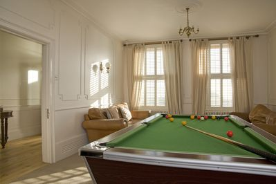 Games room with pool table and Sky TV