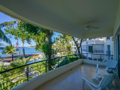 Photo for 2 bedroom luxury beachfront apartment A 2a