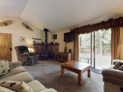 Photo for Dog-friendly cabin w/ spacious patio, wood stove, game room, and more!