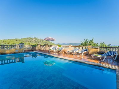 Photo for The rustic Finca Massana is located on a small hill, surrounded by fantastic