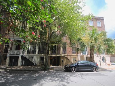 Photo for Historic 1BR Garden on Monterey Square with Exposed Brick & Hardwood Floors