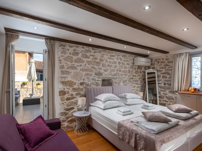Photo for B - luxury spacious studio with terrace in the heart of Split