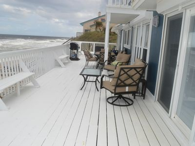Photo for COMPLETELY RENOVATED OCEANFRONT HOME, SLEEPS 8