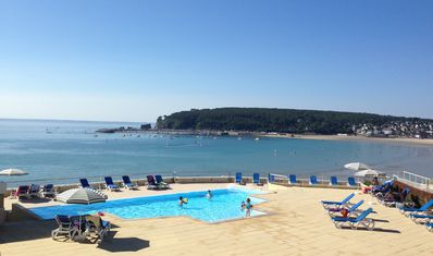 Photo for Cap Morgat - Big Holiday Apartment with pool and sea view