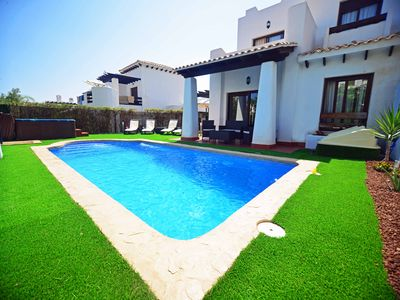 Photo for Luxury 3 Bed Villa with HEATED Private Pool, Hot Tub and FREE WiFi, Sky TV & BBQ